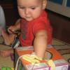 Большая мега-игрушка из картонной коробки (от полугода и дальше)