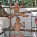 Детская площадка из… бамбука