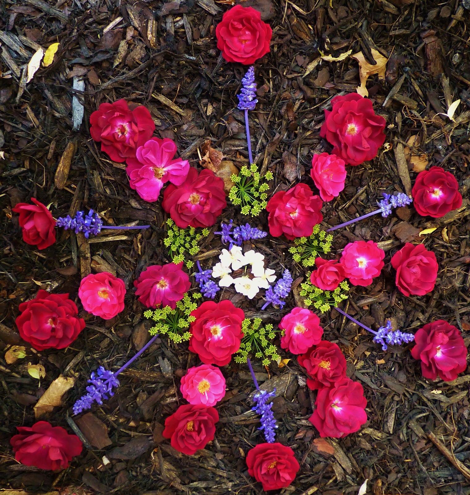 Мандала из цветов