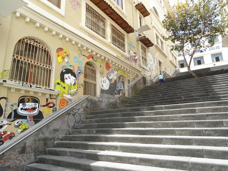 Эквадор 2011. Чудо-лестница в городе Куэнка