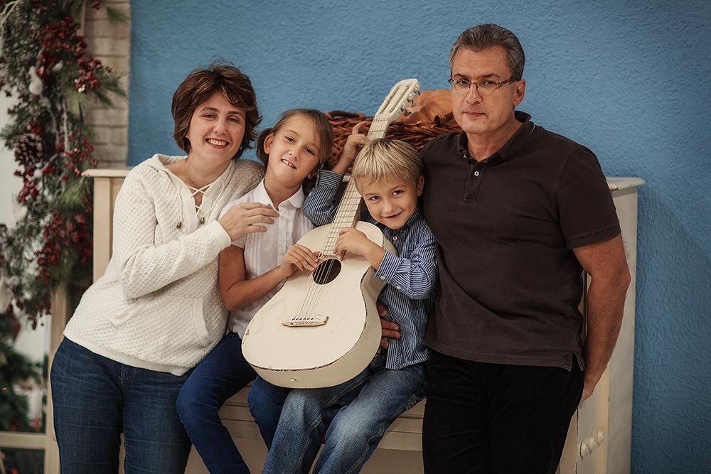 Наша семейная фотосессия. Январь 2014