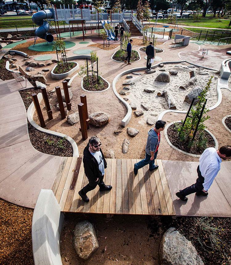 Дизайнерская площадка в пригороде Мельбурна