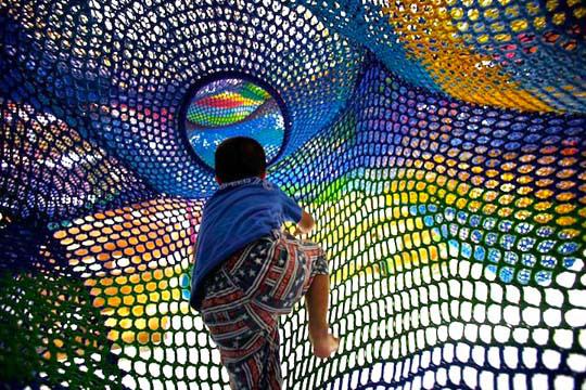 Детские площадки со всего мира. Часть 15. Вязаные детские площадки японского мастера Тошико Хориучи